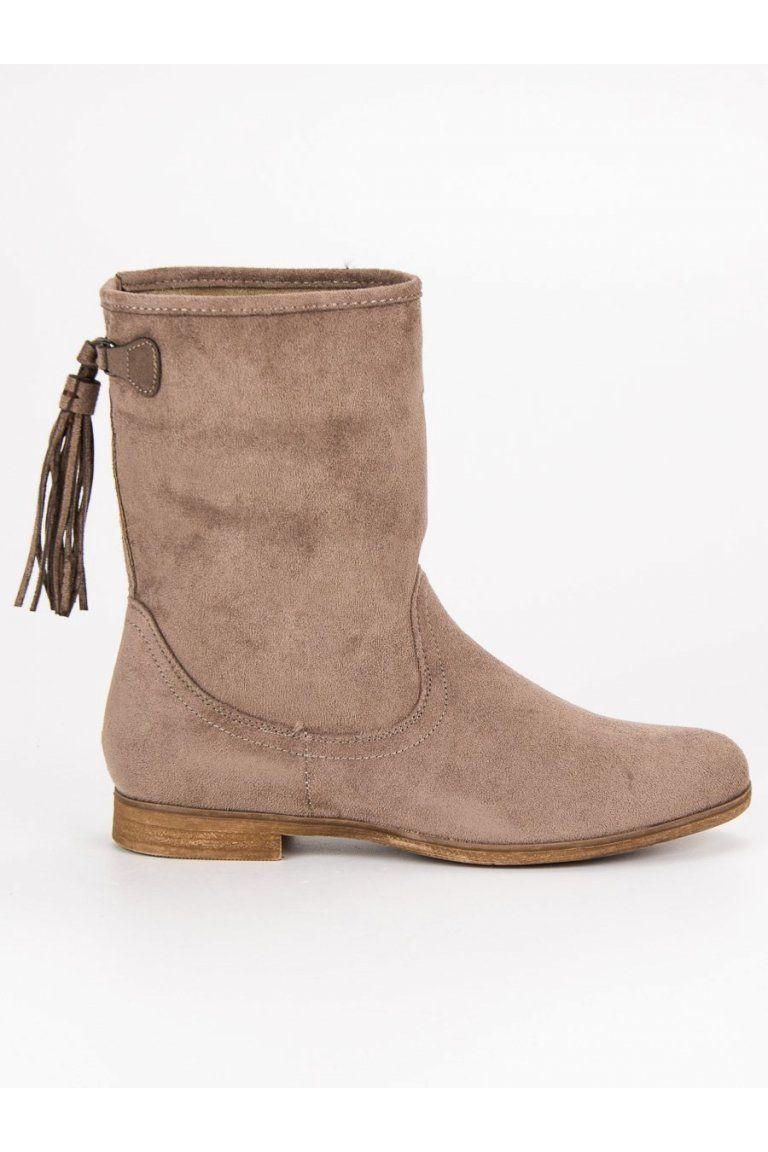 ce88434ed75d Semišové topánky béžové Weide