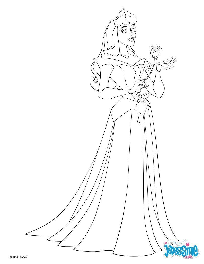 Voici un beau coloriage de aurore la princesse disney de - Coloriage robe de princesse ...