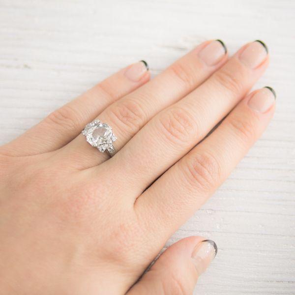 Something Borrowed Wedding Band: Image Of 1.57 Carat Vintage Art Deco Diamond Engagement