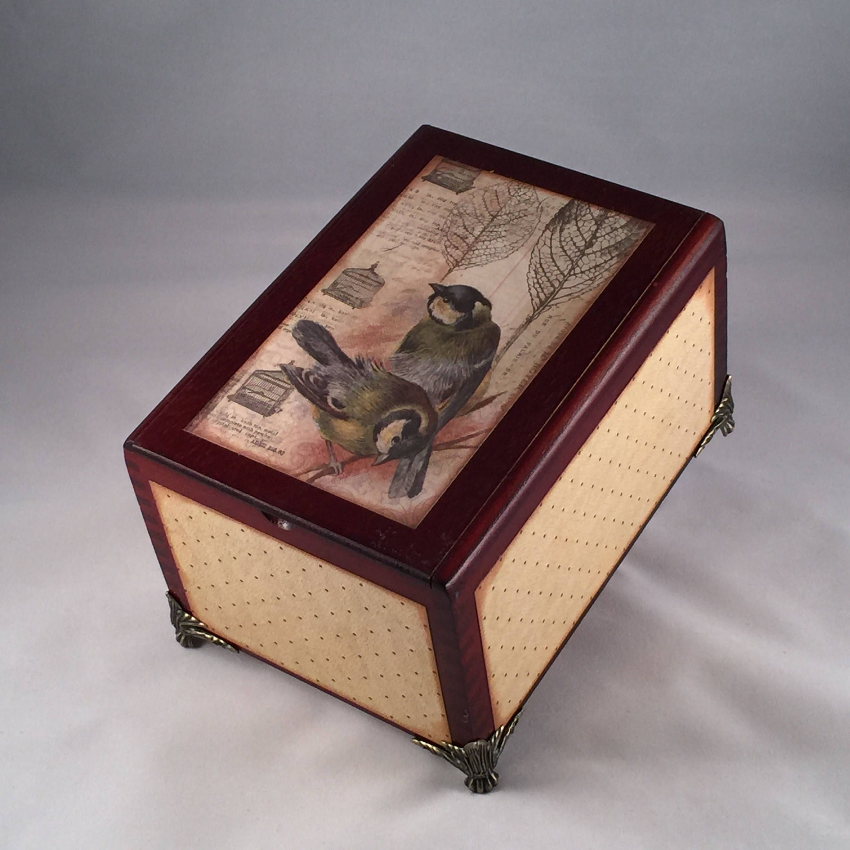 Altered Cigar Box Upcycled Cigar Box Jewelry Box Keepsake Box