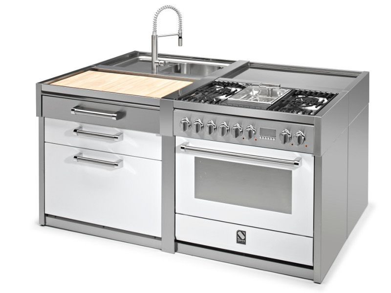 Modulo cucina in acciaio inox con tagliere Collezione Sintesi by ...