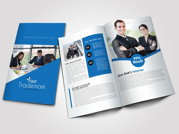 4 pages business bi fold brochure pinterest brochures business