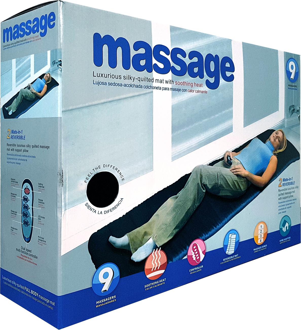 Full Body Vibrating Massage Mattress With Soothing Heat Massage Neck Shoulders Massage Upper Lower Back Dual Speed Shoulder Massage Neck Massage Massage