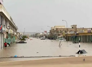 Floods In Oman Street View Scenes Nature