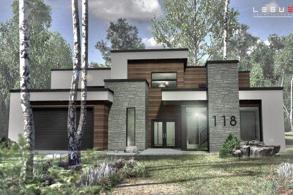 Plan de Maison Moderne Ë_118 Leguë Architecture Interior Design
