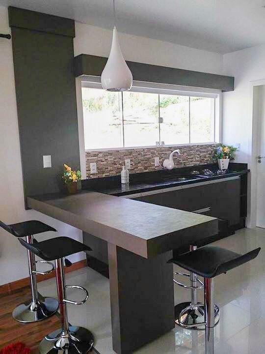 Kitchen bench breakfast bar stools barras Pinterest Cocinas - barras de cocina