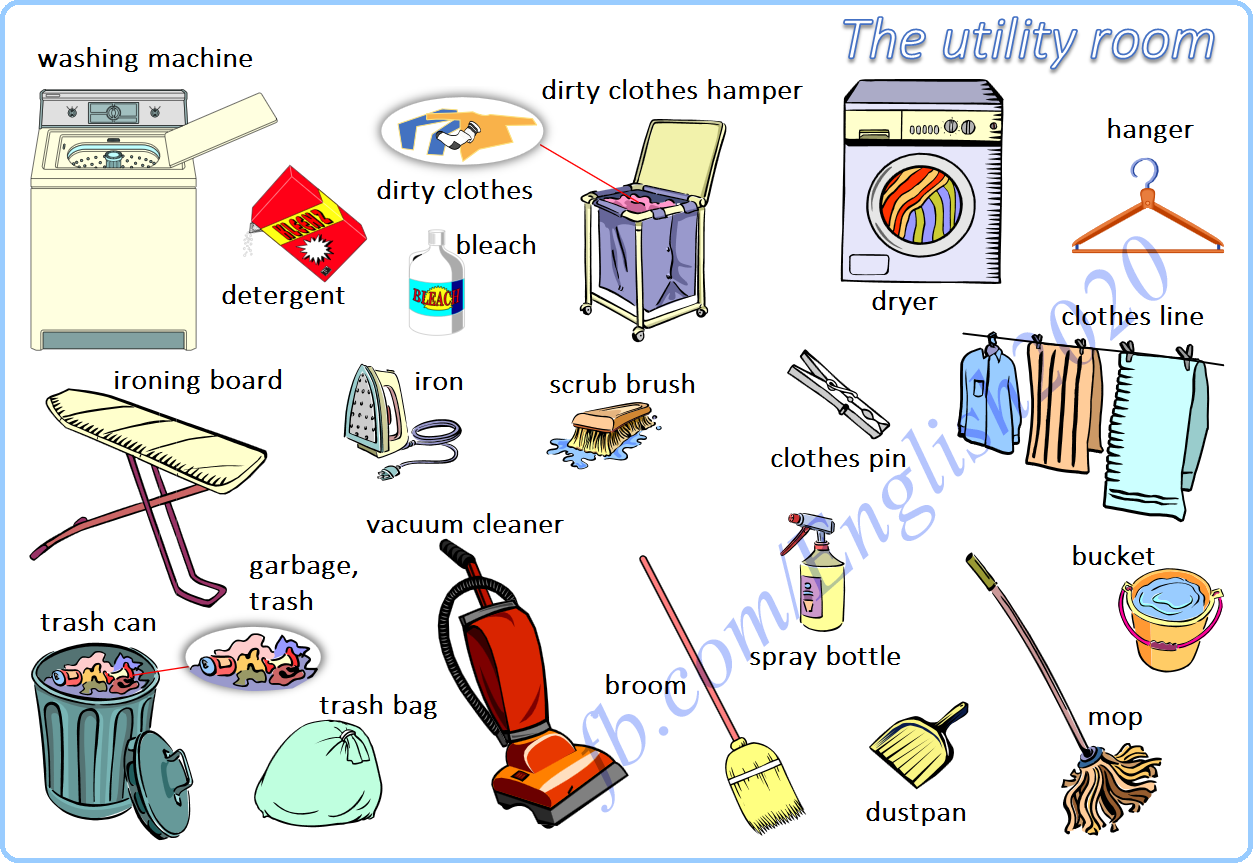 Vocabulary The Utility Room