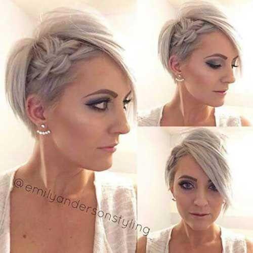 Peinados cortos trenzados de aspecto agradable: peinado simple