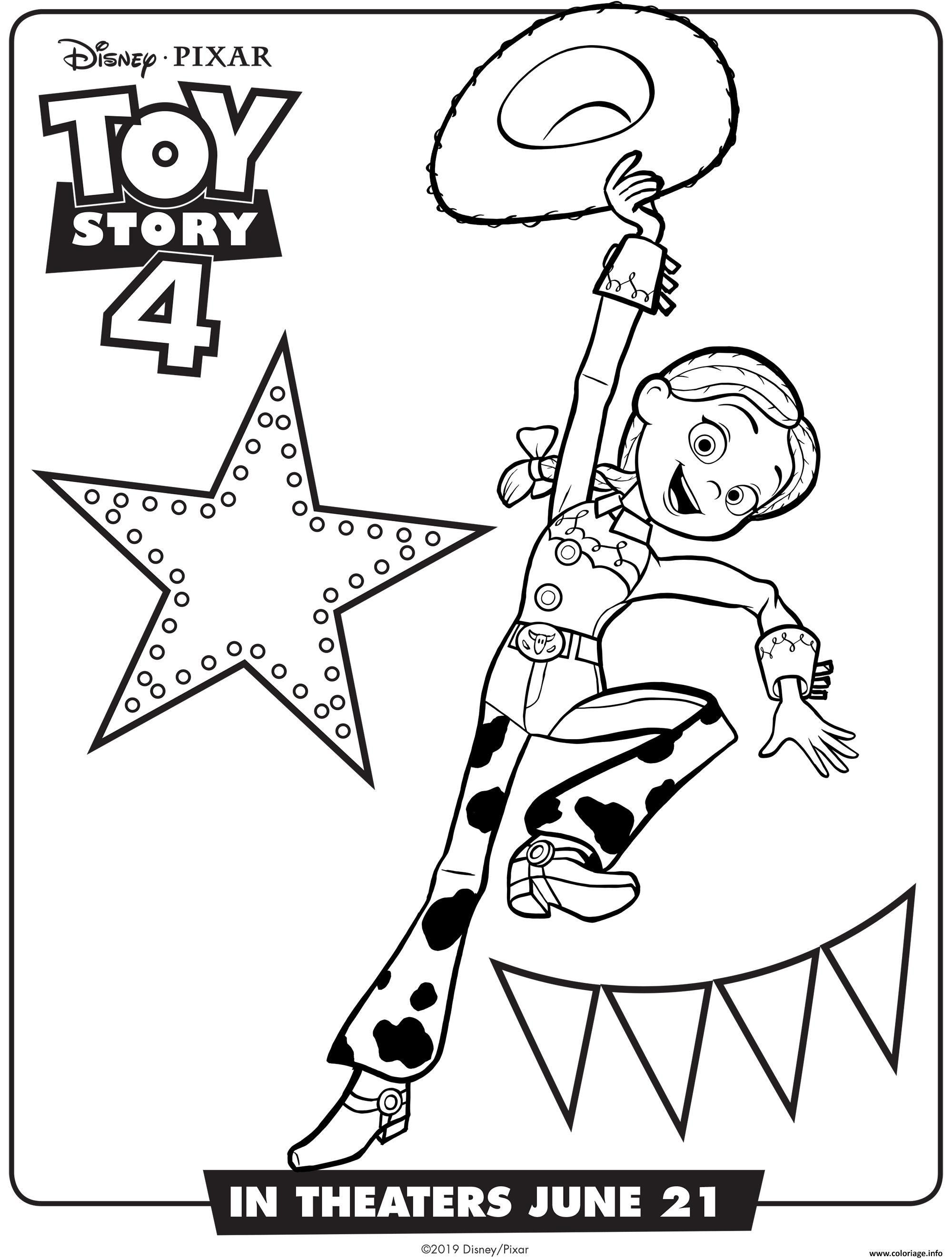 Coloriage Toy Story 30 Jessie à imprimer  Coloriage toy story