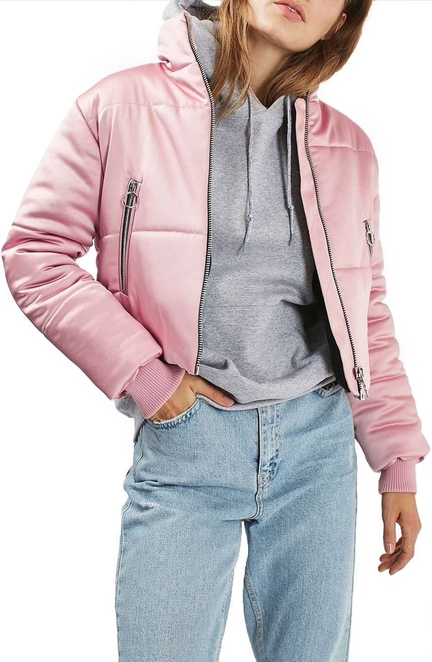 8 Reasons Why We Re Crushing On Bubblegum Pink Coats Rn Cropped Puffer Jacket Jackets Puffer Jackets [ 1318 x 860 Pixel ]