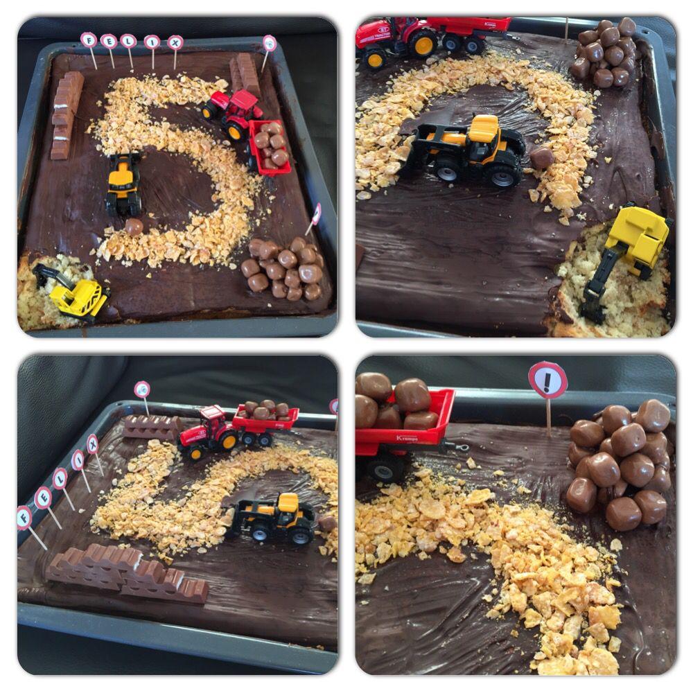 Pin By Samp Laster On Carros: Construction Birthday Cake Baustellenkuchen 5. Geburtstag