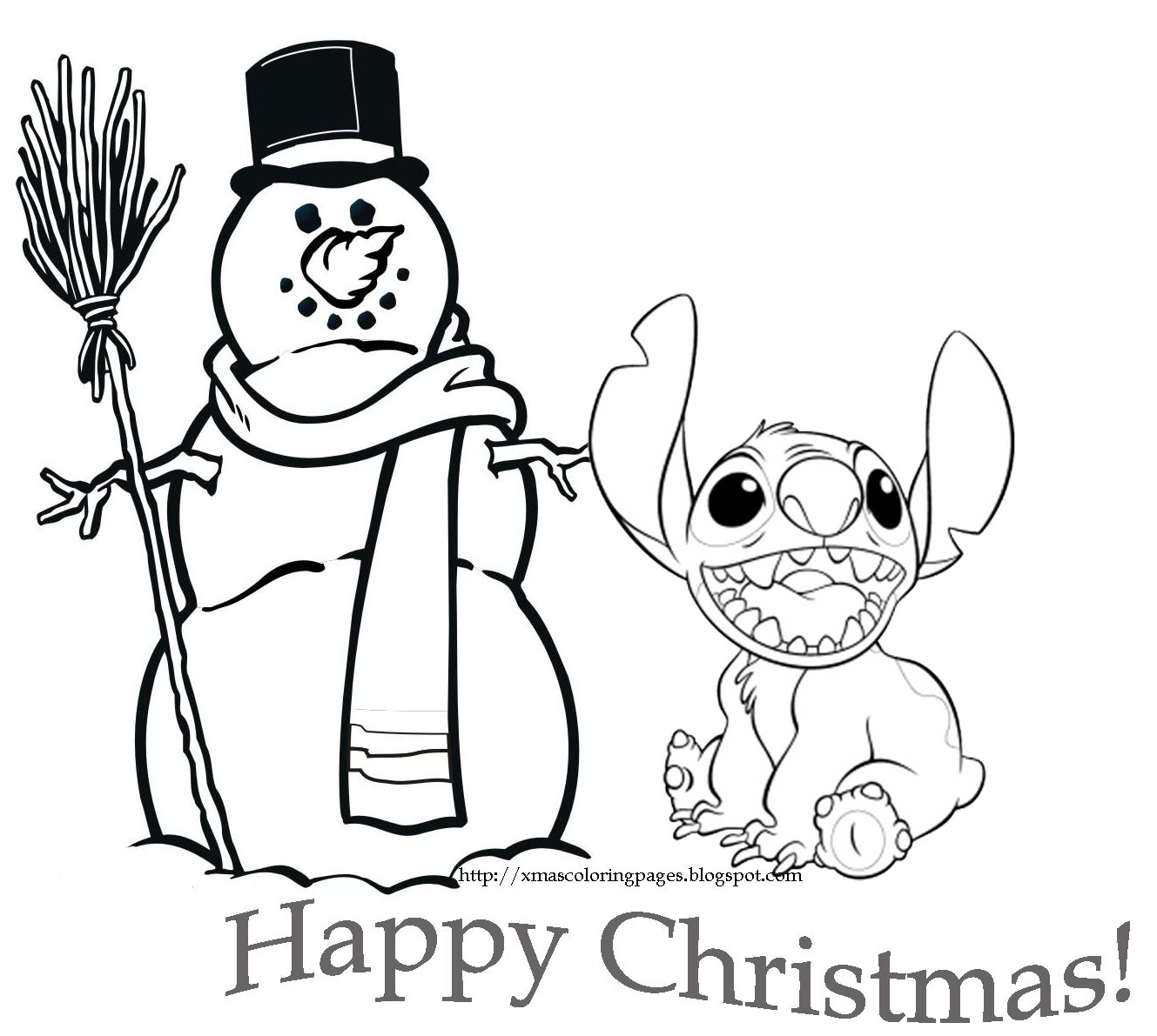 Disney Coloring Pages Christmas Printable Cute