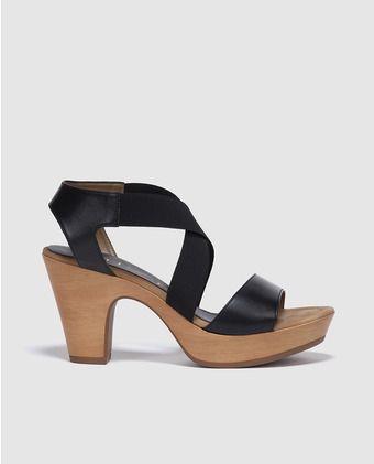 14c12a458c282 Sandalias de tacón de mujer Unisa de piel negras