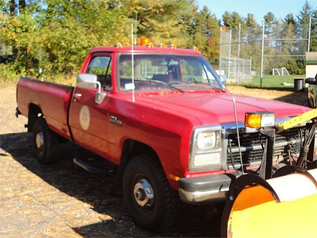 """Looking for a work truck? This 1993 Dodge 2500 4 X 4 WITH 9"""" Fisher Plow (9605783) could be a great option! #UsedCars #OnlineAuction #Auction #Auctions #ForSale #Dodge #1993 #FisherPlow #WorkTruck #PickUp #MA"""