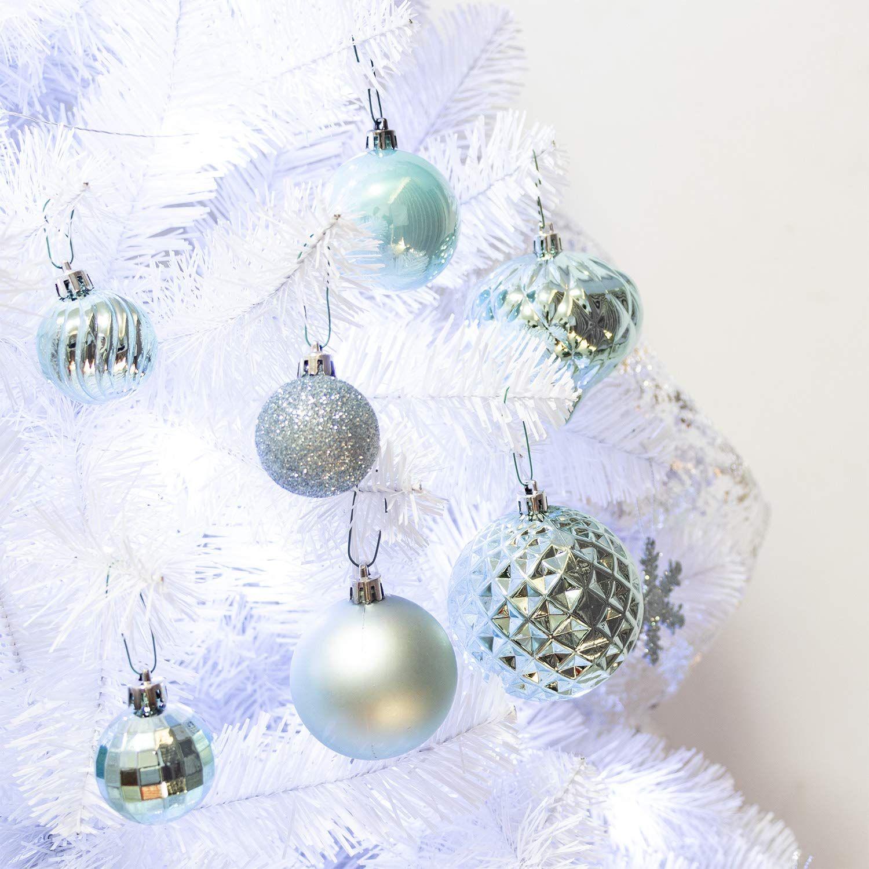 Ki Store 24ct Christmas Ball Ornaments Shatterproof Christmas Decorations Tre Christmas Ornaments Diy Kids Christmas Decorations Tree Christmas Ornament Crafts
