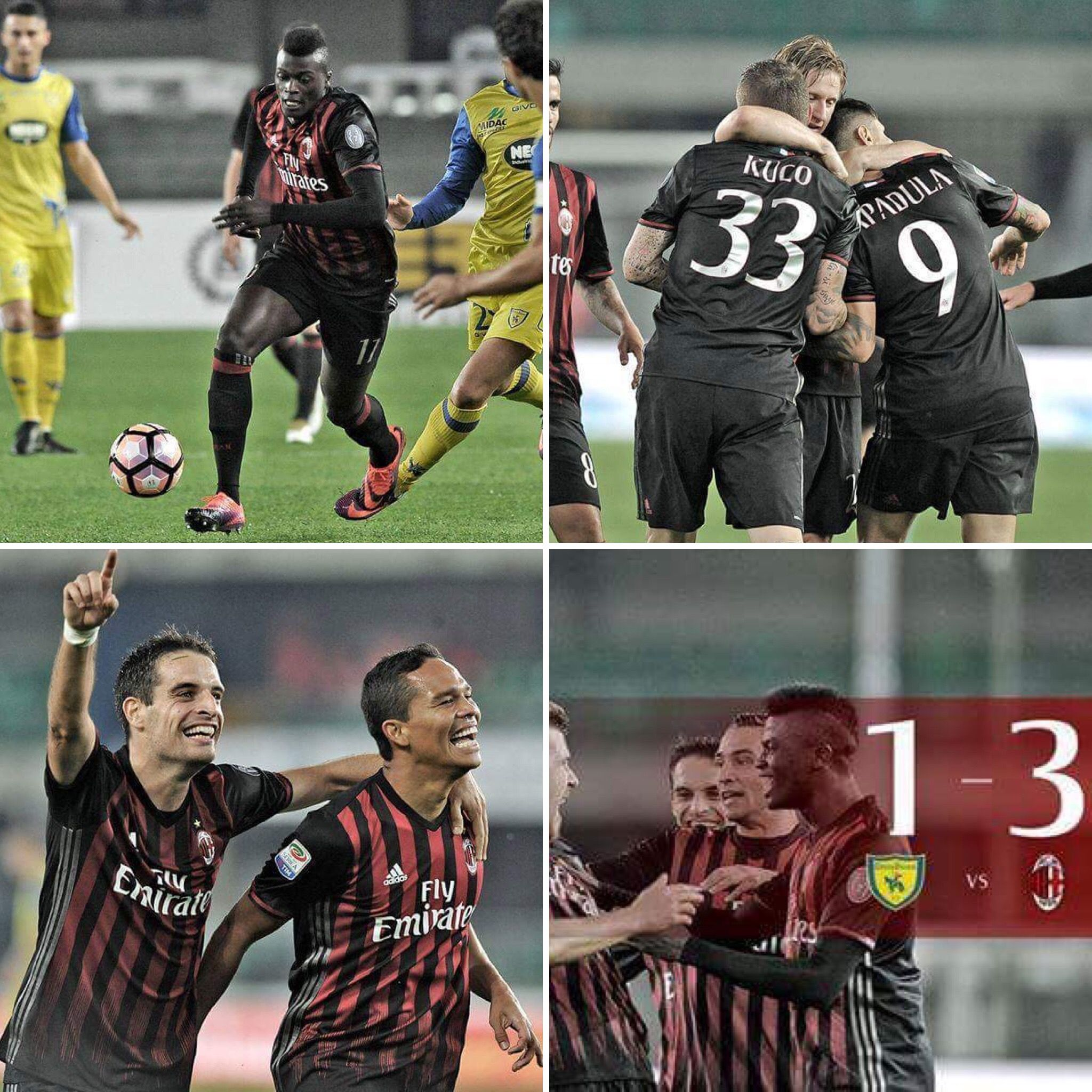 Chievo 1 3 A C Milan What A Big Win A C Milan Don T Miss It