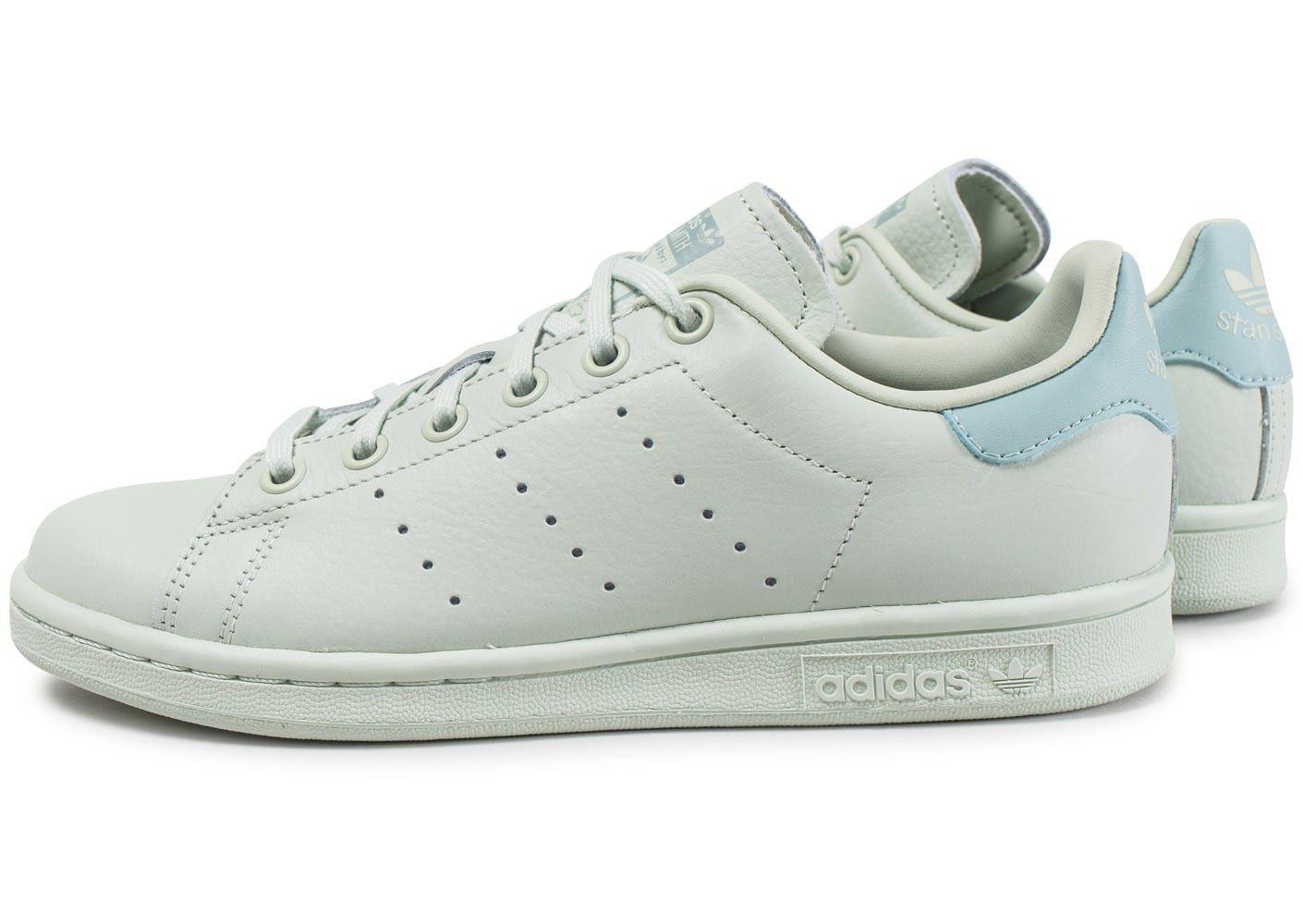 Chaussures adidas Stan Smith Junior vert pastel vue extérieure