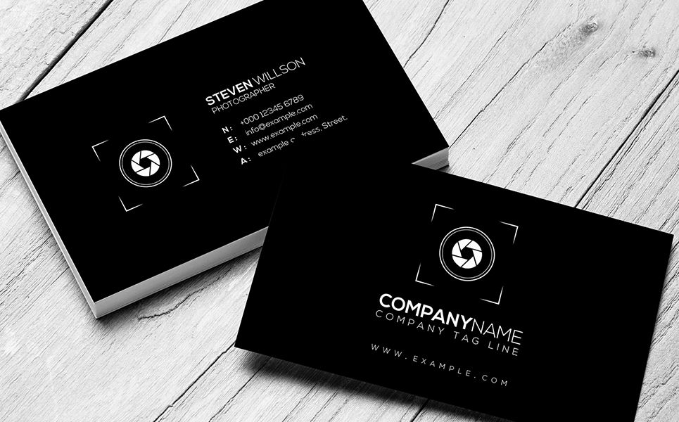 Minimal sophisticated photography business card