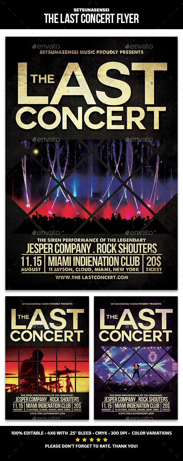 The Last Concert Flyer By SetsunaSensei FlyerThis Is Perfect For Promoting Your Next Rock Musical FeaturesThe Flyers Size
