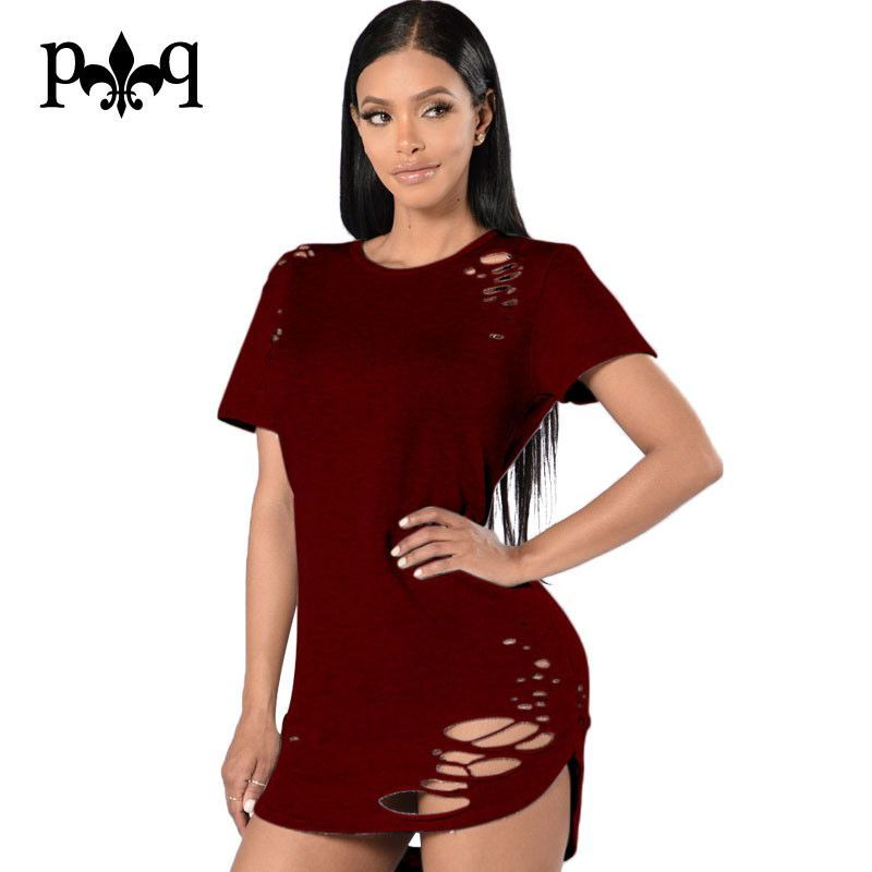 5bc49220660c Women Tshirt Dress New Short Sleeve Hollow Out Sexy Club Dresses Night Club  Wear Casual Loose Party Dress Women Bodycon Vestido