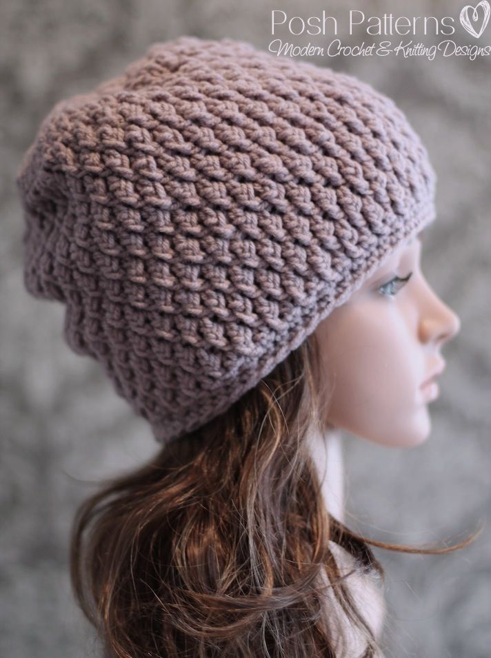 Crochet PATTERN - Cable Crochet Slouchy Hat Pattern | Mütze ...