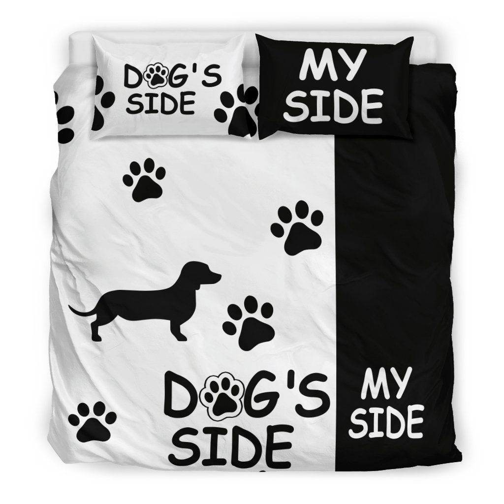 Dachshund dog's side my side bedding set Side bed, Cute