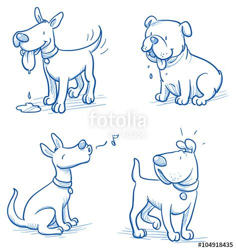 """Photo of Descargue el vector libre de regalías """"Cute cartoon dog set. Sleeping, running, stan …"""
