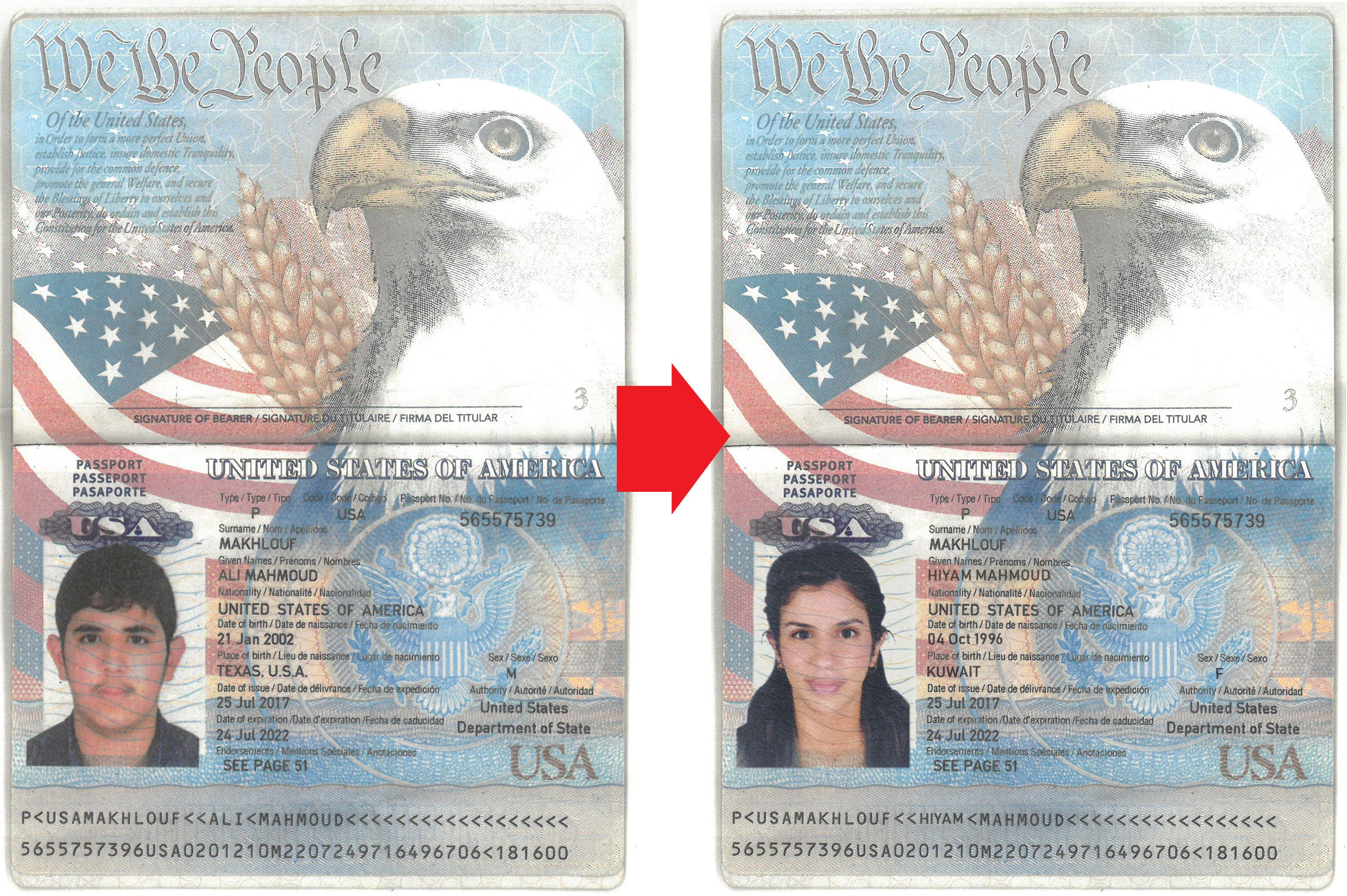 How To Change The Text United State Of America Passport