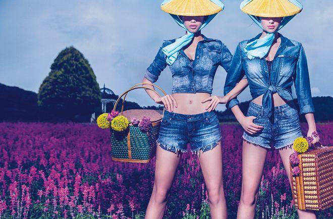 画像: 10/11【GUESS新広告は日本が舞台 伝統的モチーフを取り入れ東西文化を融合】