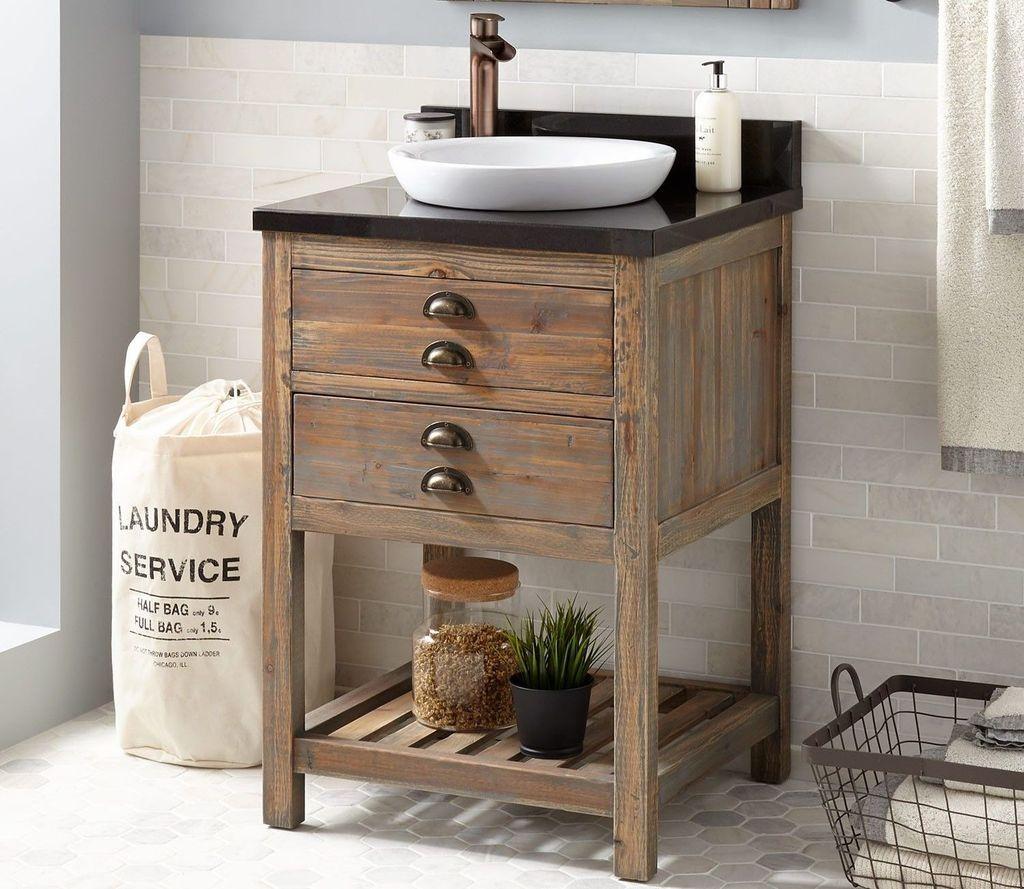 Awesome 40 Wonderful Cabinet Ideas For Bathroom Reclaimed Wood Bathroom Vanity Wood Bathroom Vanity Reclaimed Wood Vanity