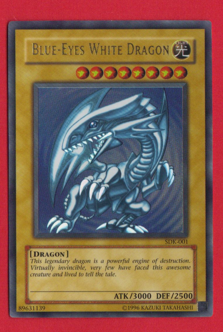 yugioh blue eyes white dragon card yugioh collectibles