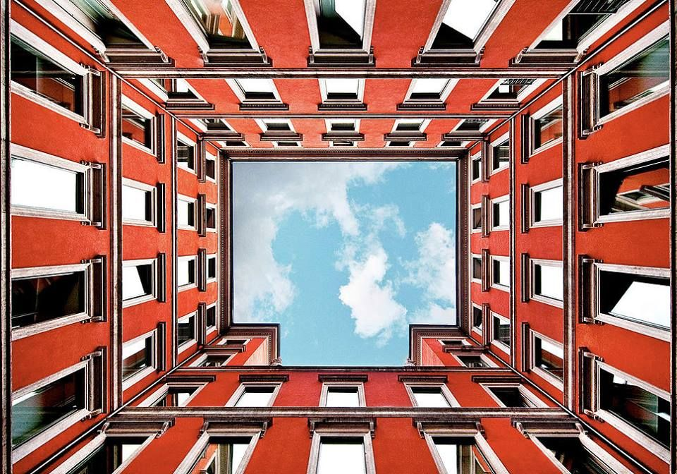 Postcards of #Milan, the sky seen by its courts! #Milano city of #EXPO2015