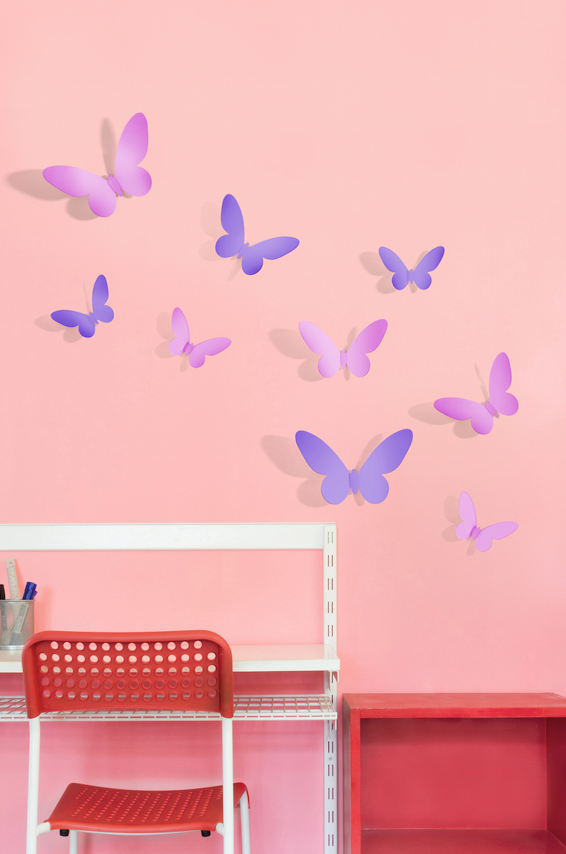 Figuras decorativas mariposas combinadas better place 3d for Disena tu propia habitacion