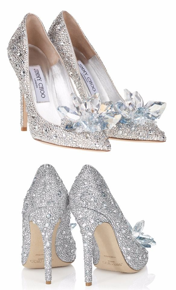 372615adae79 Crystal covered pointy toe pump Cinderella Slippers