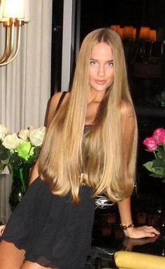 extremely long blonde hair - google