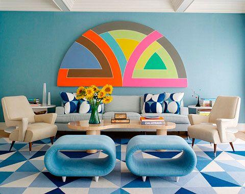 retro living room sets Eclectic POP colour furniture Pinterest