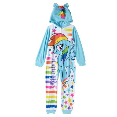 cd54f69a34 My Little Pony Girls  1pc Sleeper with Hoodie