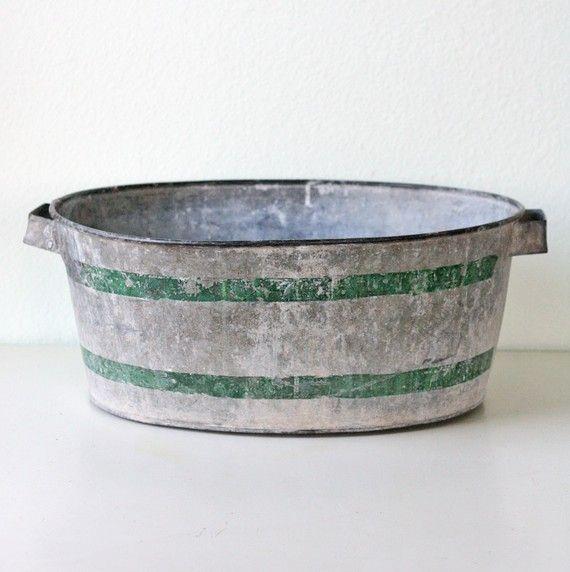 Vintage Galvanized Tub Galvanized Tub Galvanized Galvanized Metal