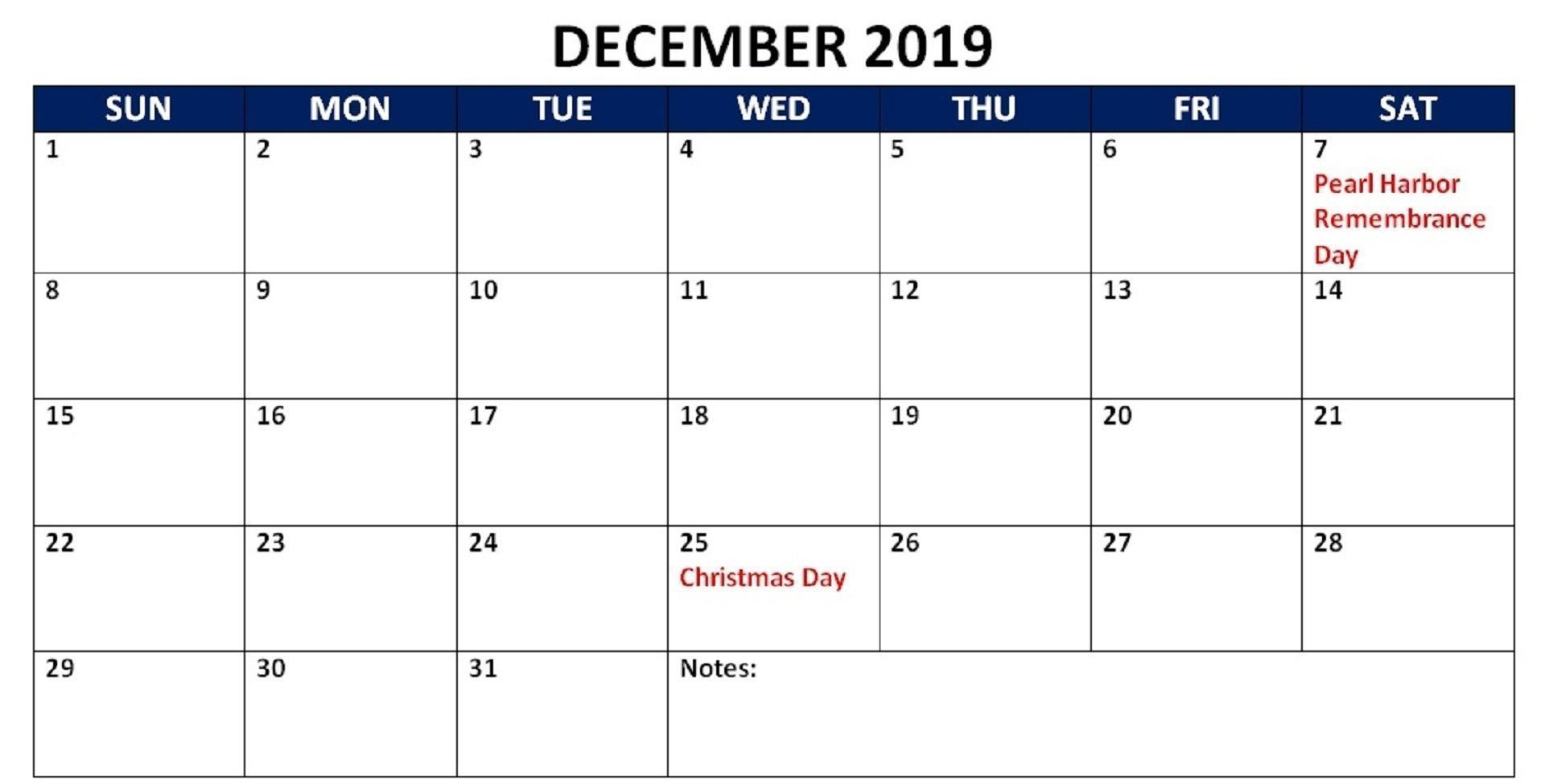 December 2019 Calendar With Holidays Uk Printable Free Calendar