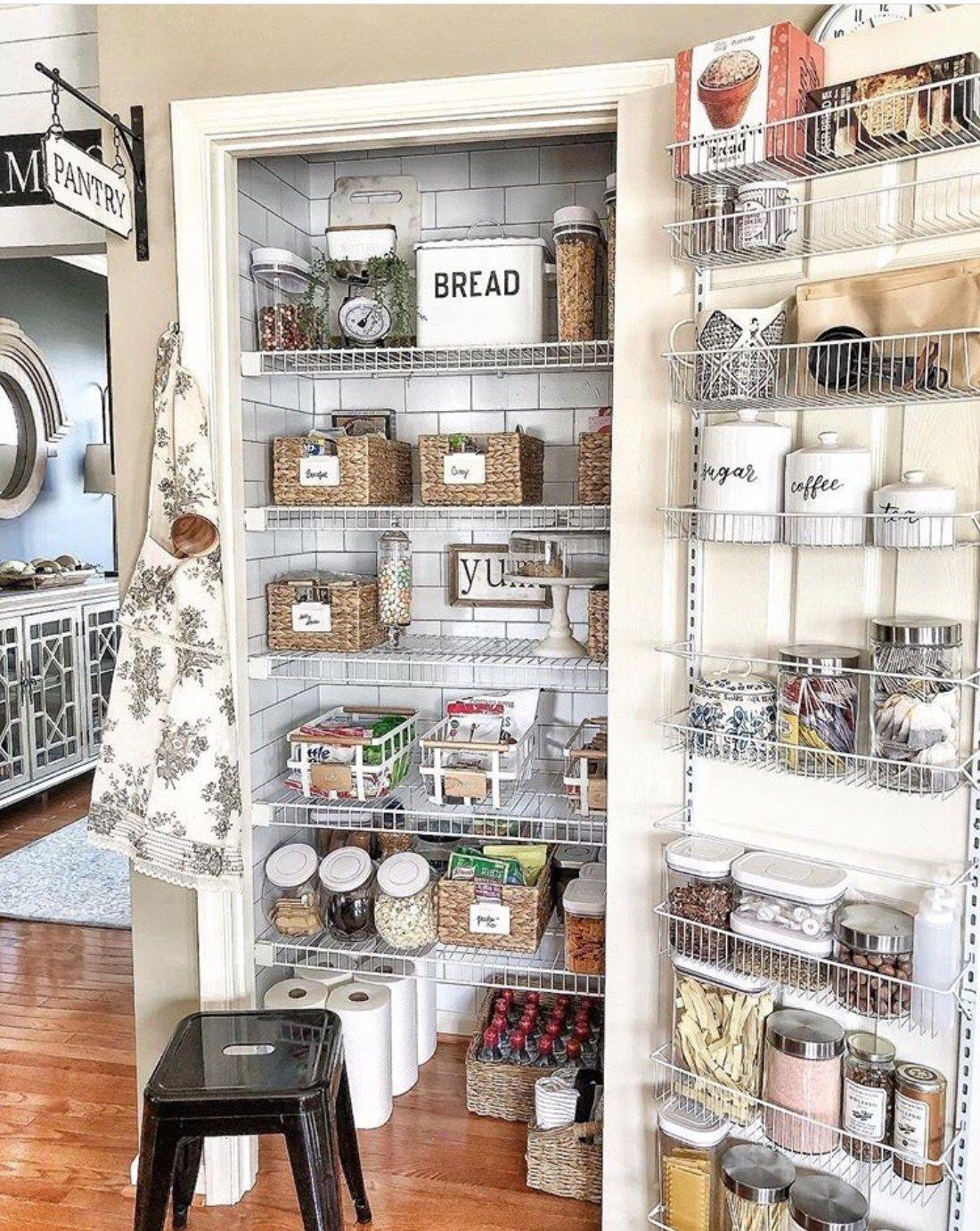 50 Clever Pantry Organization Ideas Pantry Inspiration Kitchen