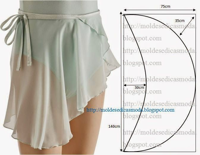 SAIA PARA BALLET | Sewing | Pinterest | Sewing, Sewing patterns and ...