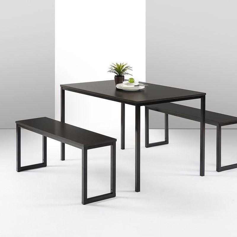 Frida 3 Piece Dining Set With Images Small Kitchen Table Sets