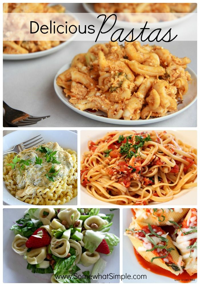 Italian pasta menu recipes