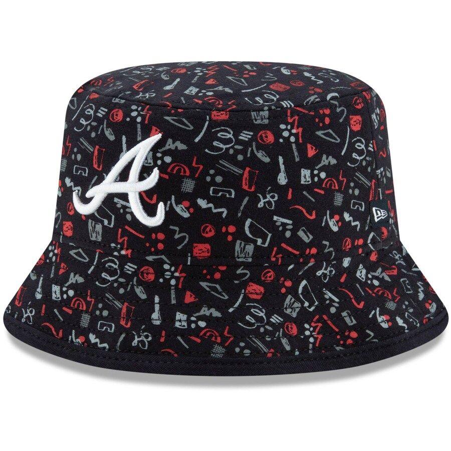 Infant Atlanta Braves New Era Navy Pattern Bucket Hat Your Price 25 99 In 2020 Atlanta Braves Braves Hats