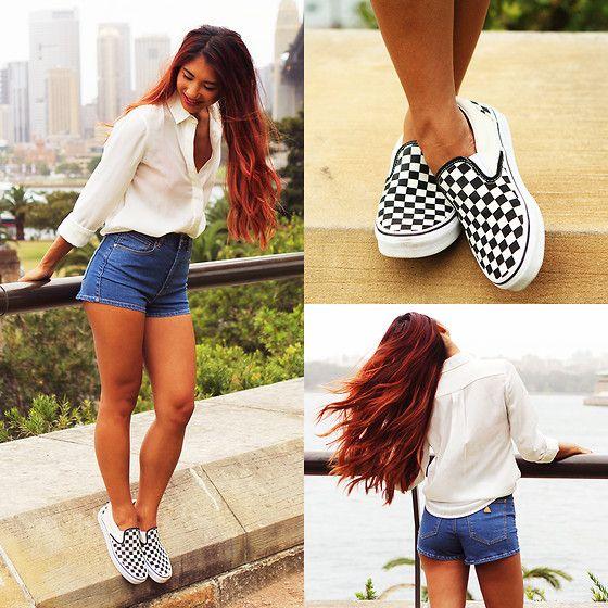 Brand Shorts, Vans Classic Slip Ons