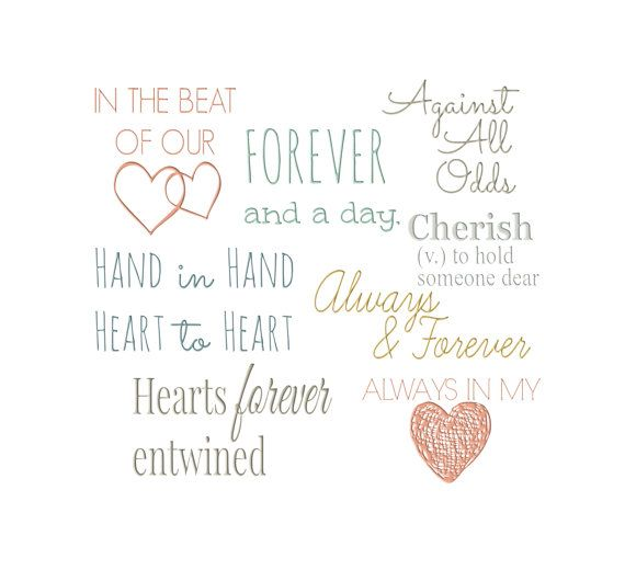 Vintage Wedding Love Word Art Collection By Changingvases 1 50