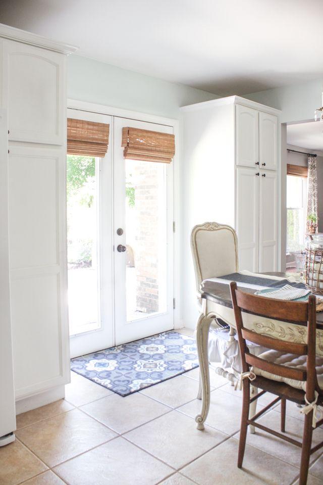 New Cordless Bamboo Shades Shades Of Blue Interiors Patio Door Coverings Door Coverings Shades For French Doors