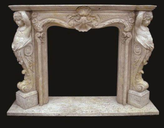 Model 22 Marble Mantels Cherubim Antique Victorian