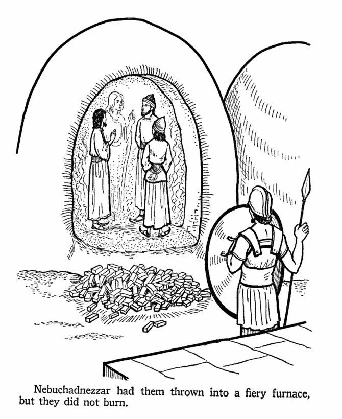 Shadrach Meshach And Abednego Coloring Page | Bibliai | Pinterest ...