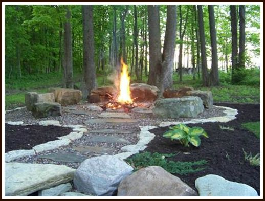 Get started building your own backyard fire pit with these for Outdoor fire pit construction